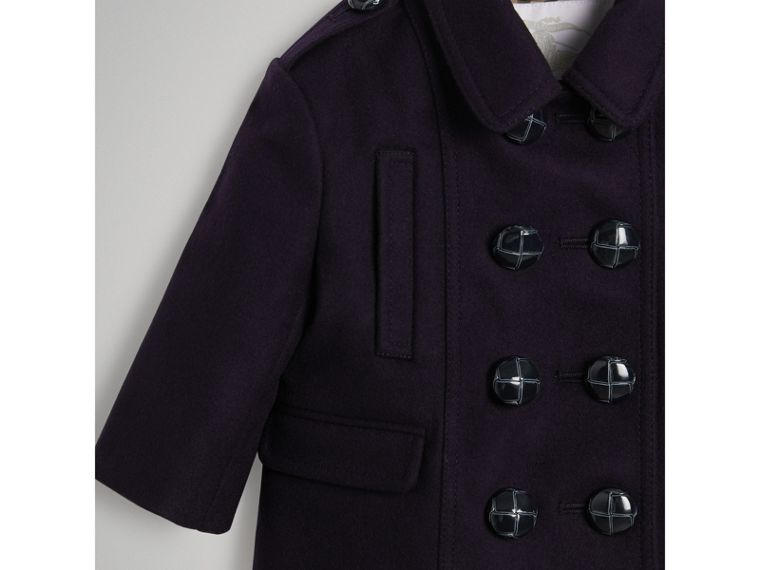 Wool Pea Coat in Navy | Burberry Australia - cell image 4