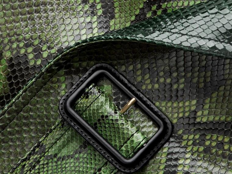 Vert vif Trench-coat en python non doublé - cell image 1