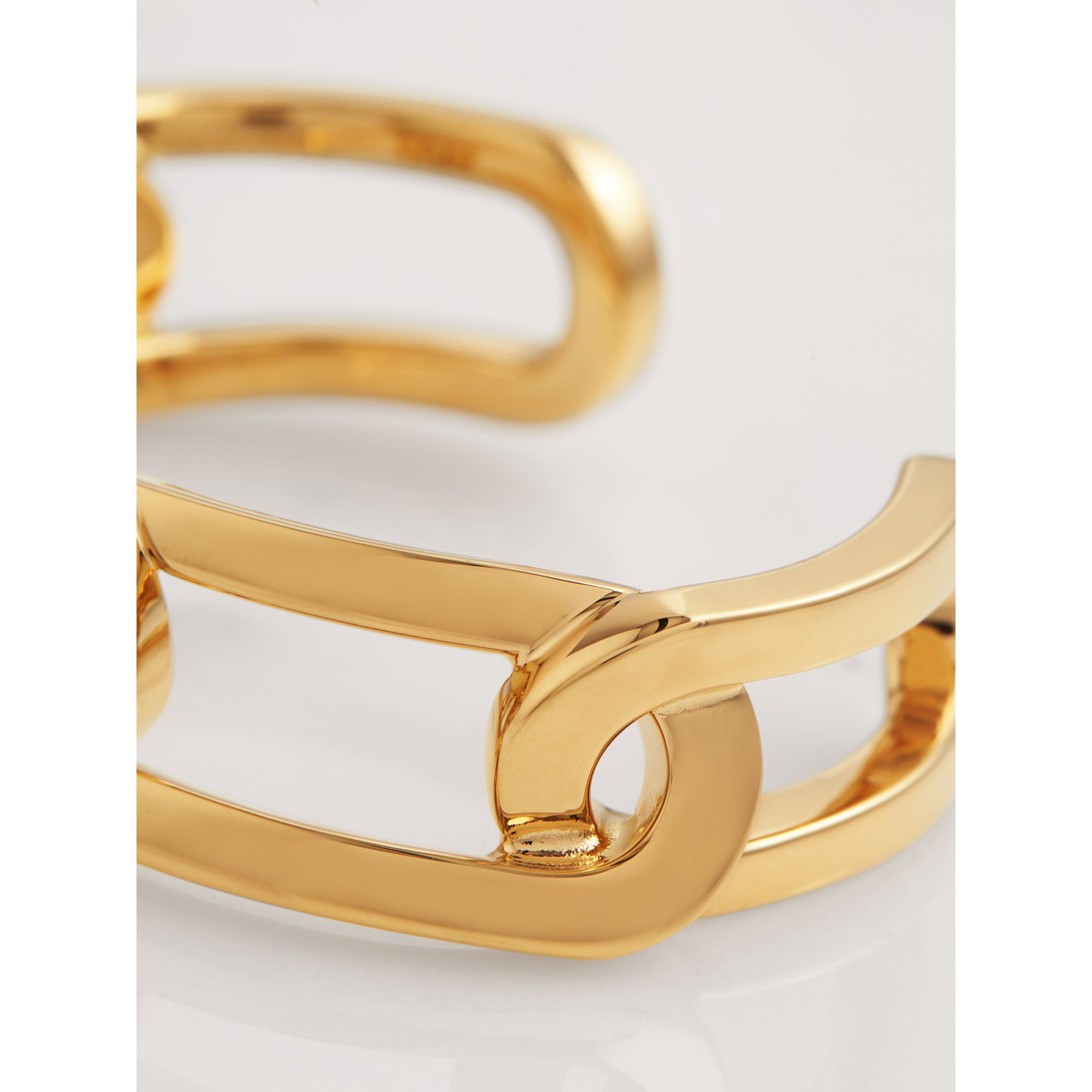 Gold-plated Link Cuff in Light - Women | Burberry Singapore - gallery image 1