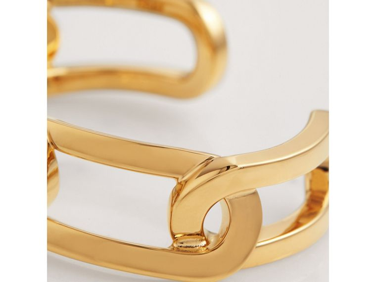 Gold-plated Link Cuff in Light - Women | Burberry United Kingdom - cell image 1