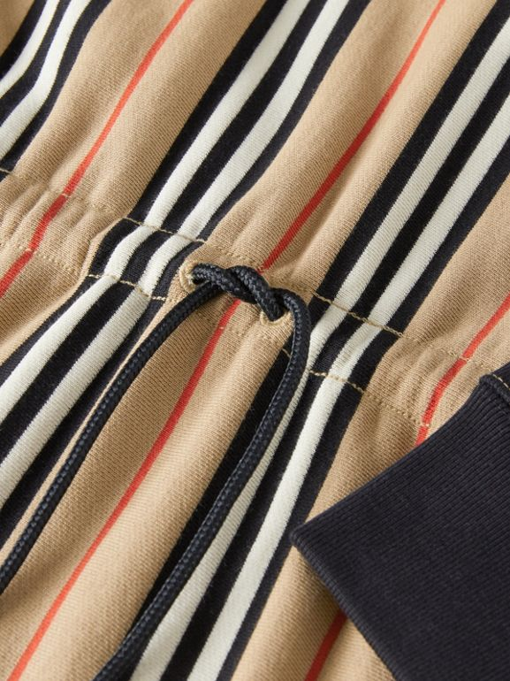 Icon Stripe Cotton Sweater Dress in Archive Beige | Burberry - cell image 1