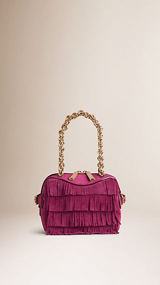 The Alchester mini con frange in pelle scamosciata
