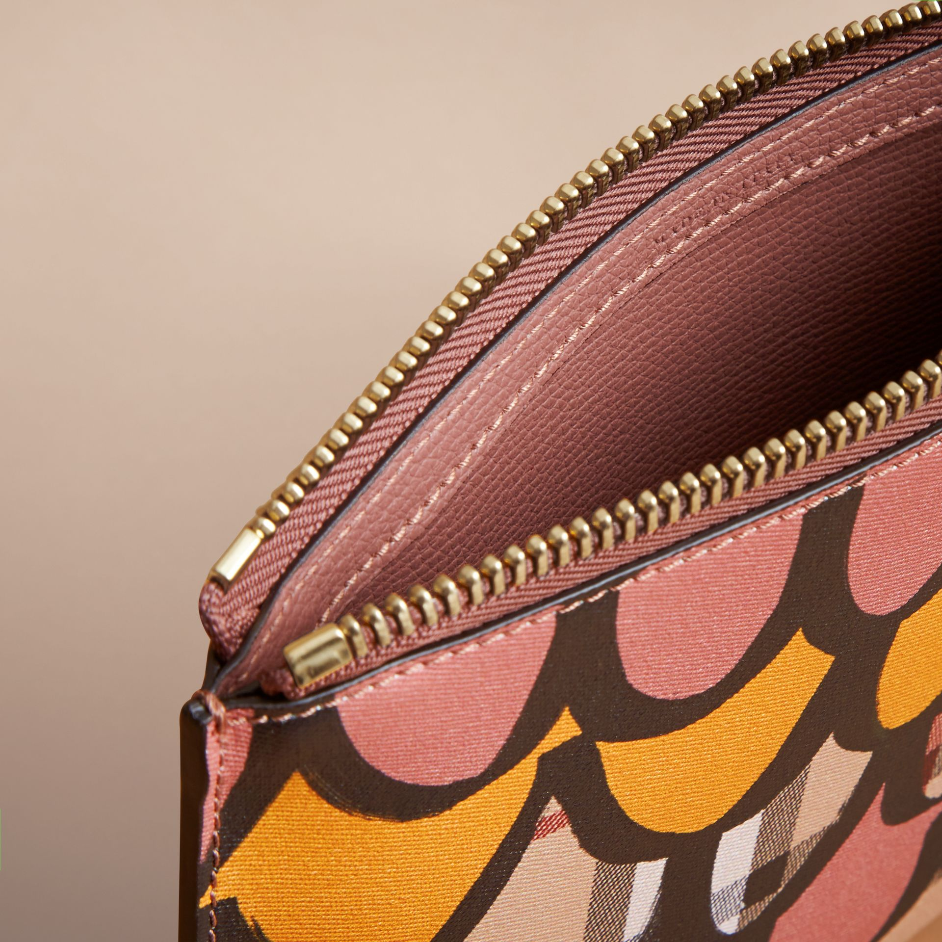 Trompe L'oeil Haymarket Check and Leather Pouch - Women | Burberry - gallery image 5