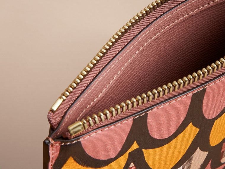 Trompe L'oeil Haymarket Check and Leather Pouch - Women | Burberry - cell image 4