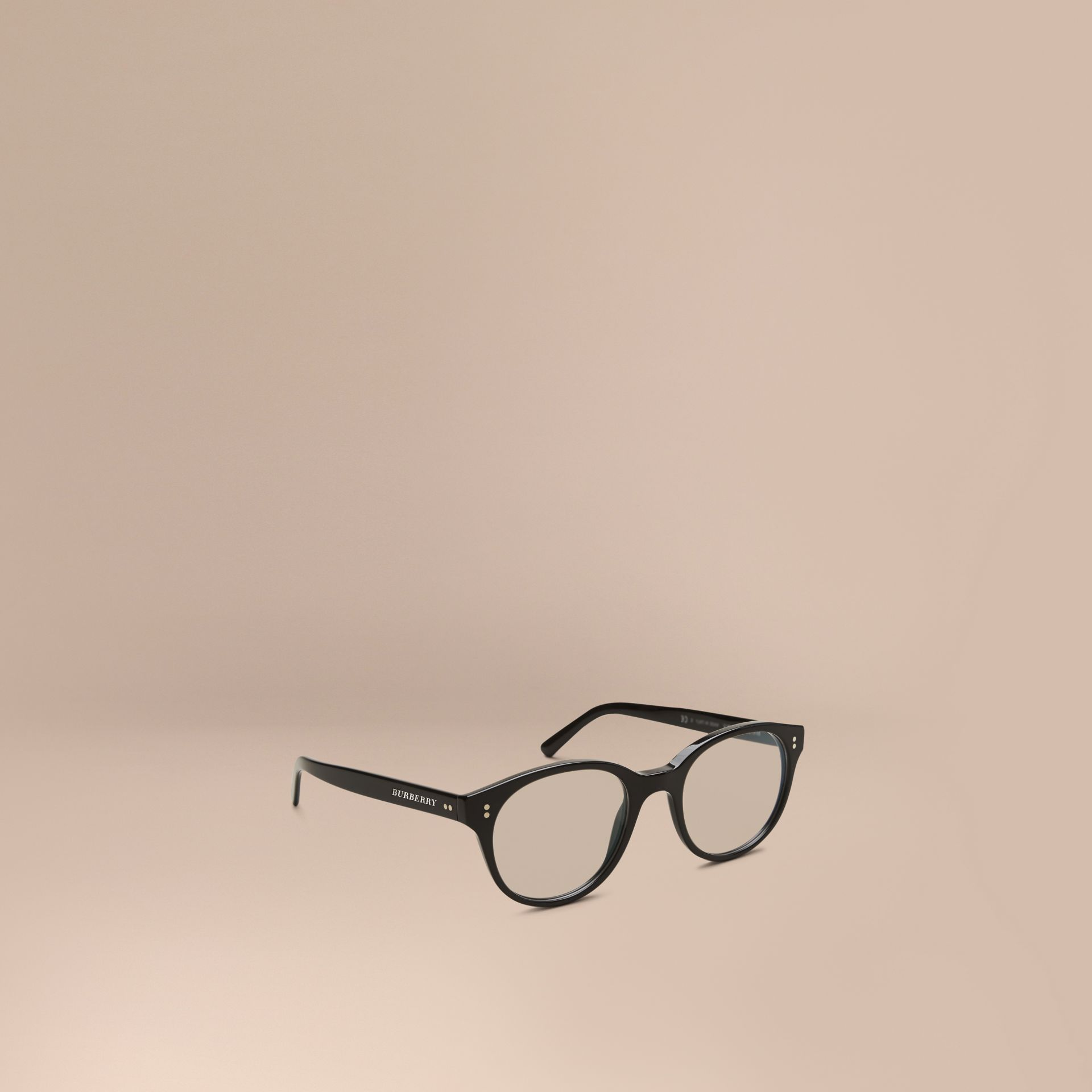 Black Round Optical Frames Black - gallery image 1