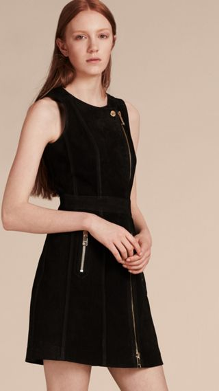Nubuck Zip-front Dress
