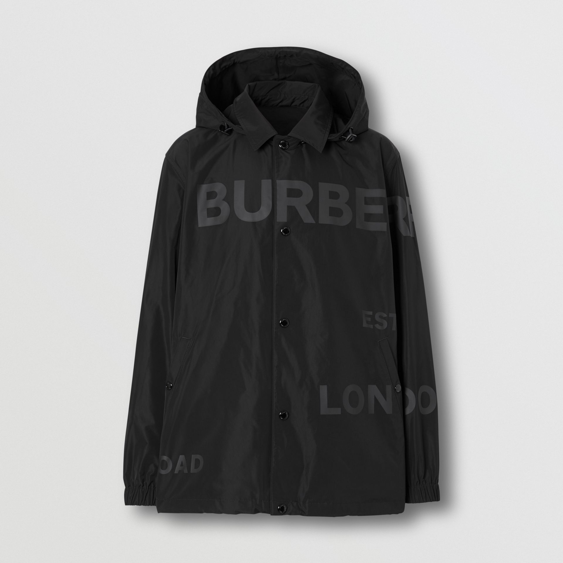 Detachable Hood Shape-memory Taffeta Jacket in Black - Men | Burberry - gallery image 3
