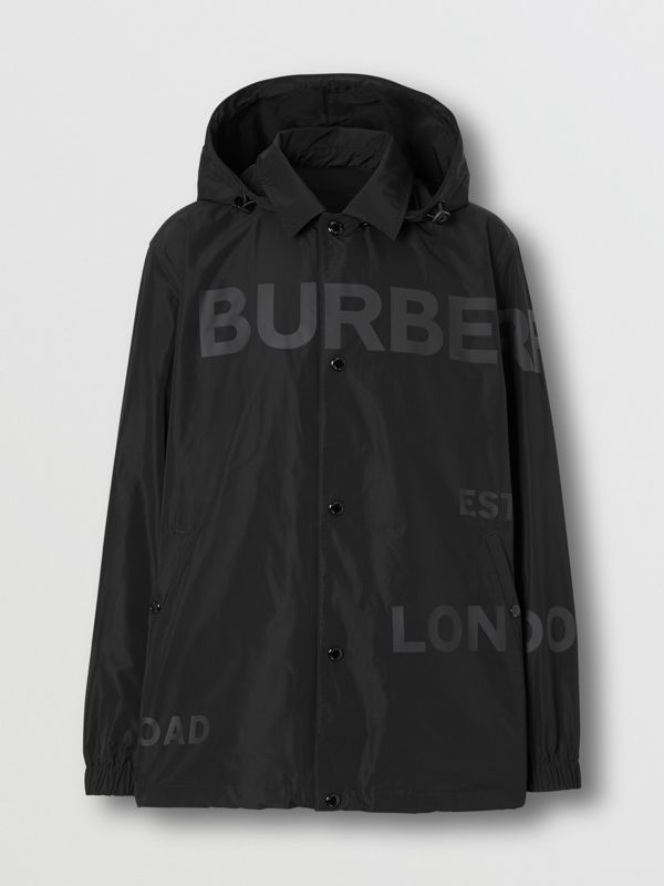 Detachable Hood Shape-memory Taffeta Jacket in Black - Men | Burberry - cell image 3