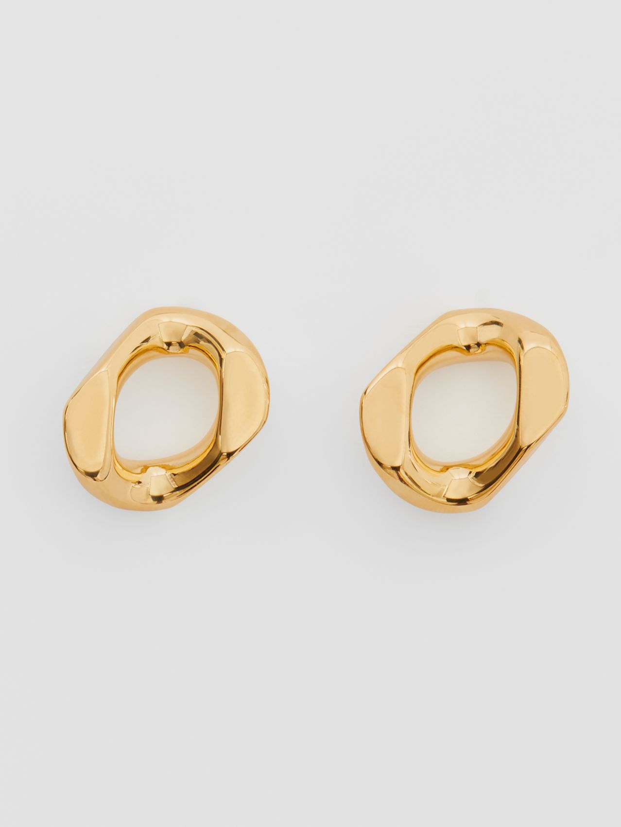 Small Gold-plated Chain-link Earrings (Light)