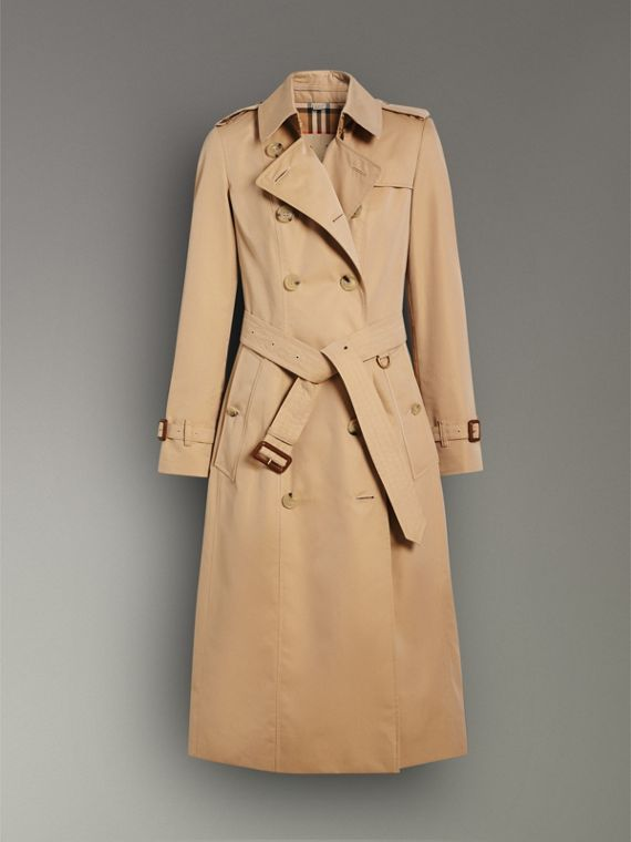 The Chelsea - Trench coat Heritage longo (Mel) - Mulheres | Burberry - cell image 3