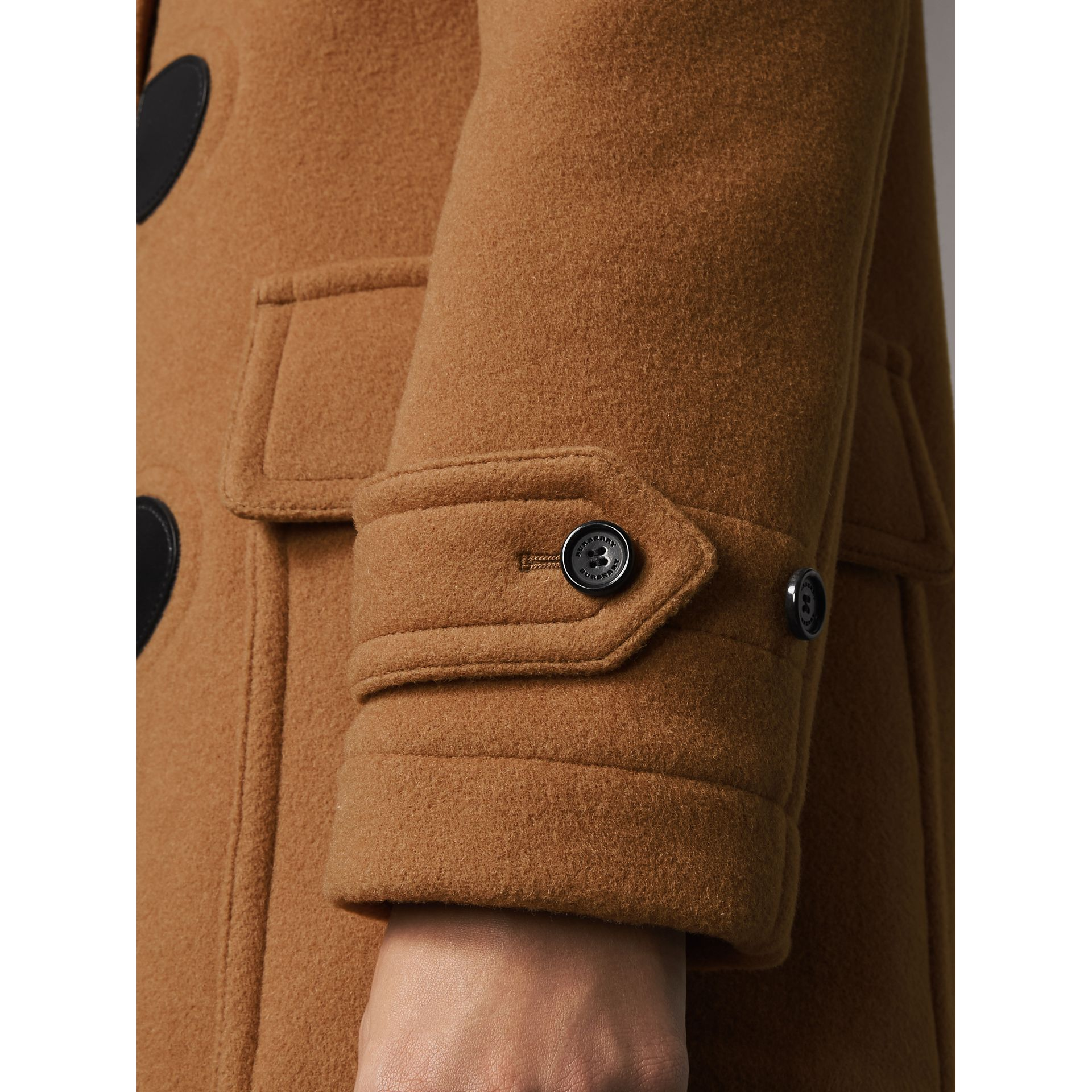 The Mersey Duffle Coat in Mid Camel - Women | Burberry Australia - gallery image 4