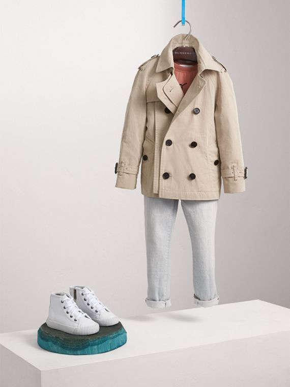 Tropical Gabardine Trench Jacket - Boy | Burberry Canada