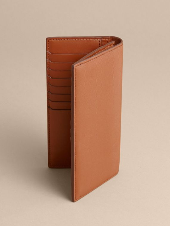 Trench Leather Continental Wallet in Tan - Men | Burberry - cell image 3