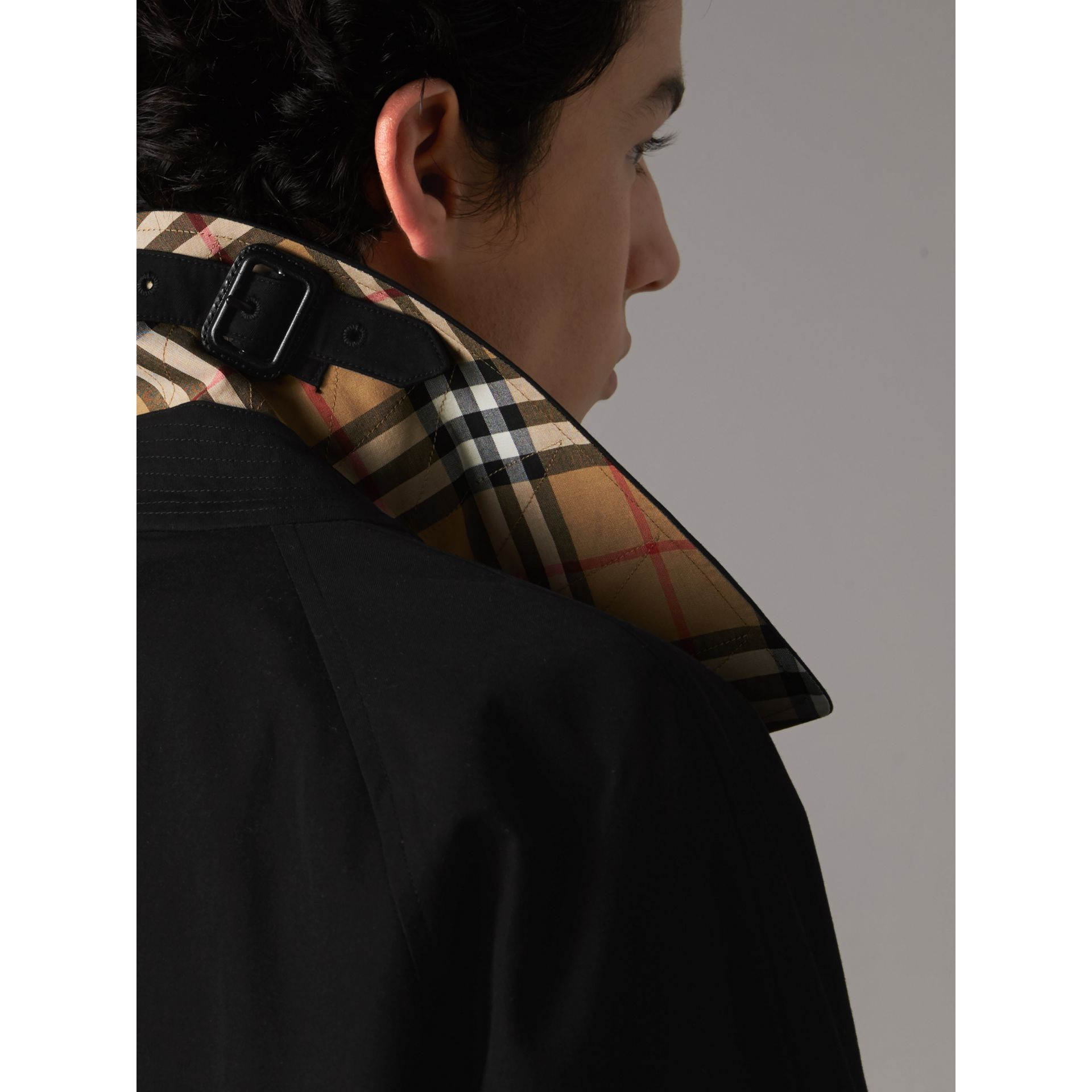 The Camden – Long Car Coat in Black - Men | Burberry United States - gallery image 1
