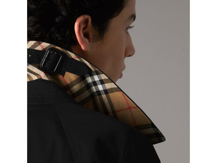 The Camden – Long Car Coat in Black - Men | Burberry Canada - cell image 1