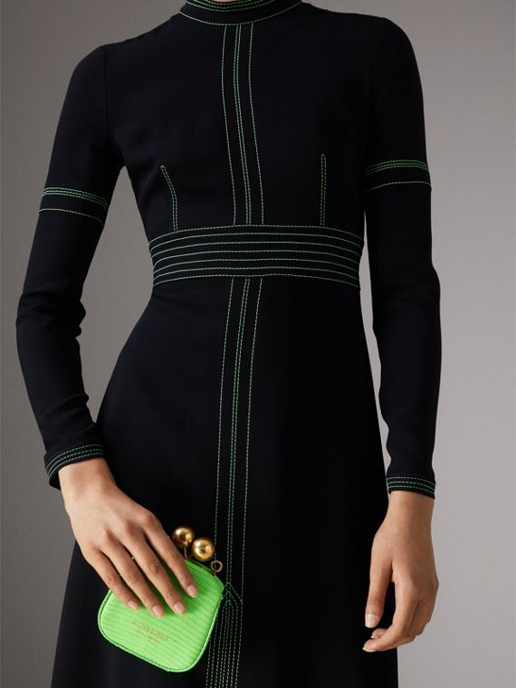 Mini Two-tone Lizard Frame Bag in Neon Green - Women | Burberry Singapore - cell image 3