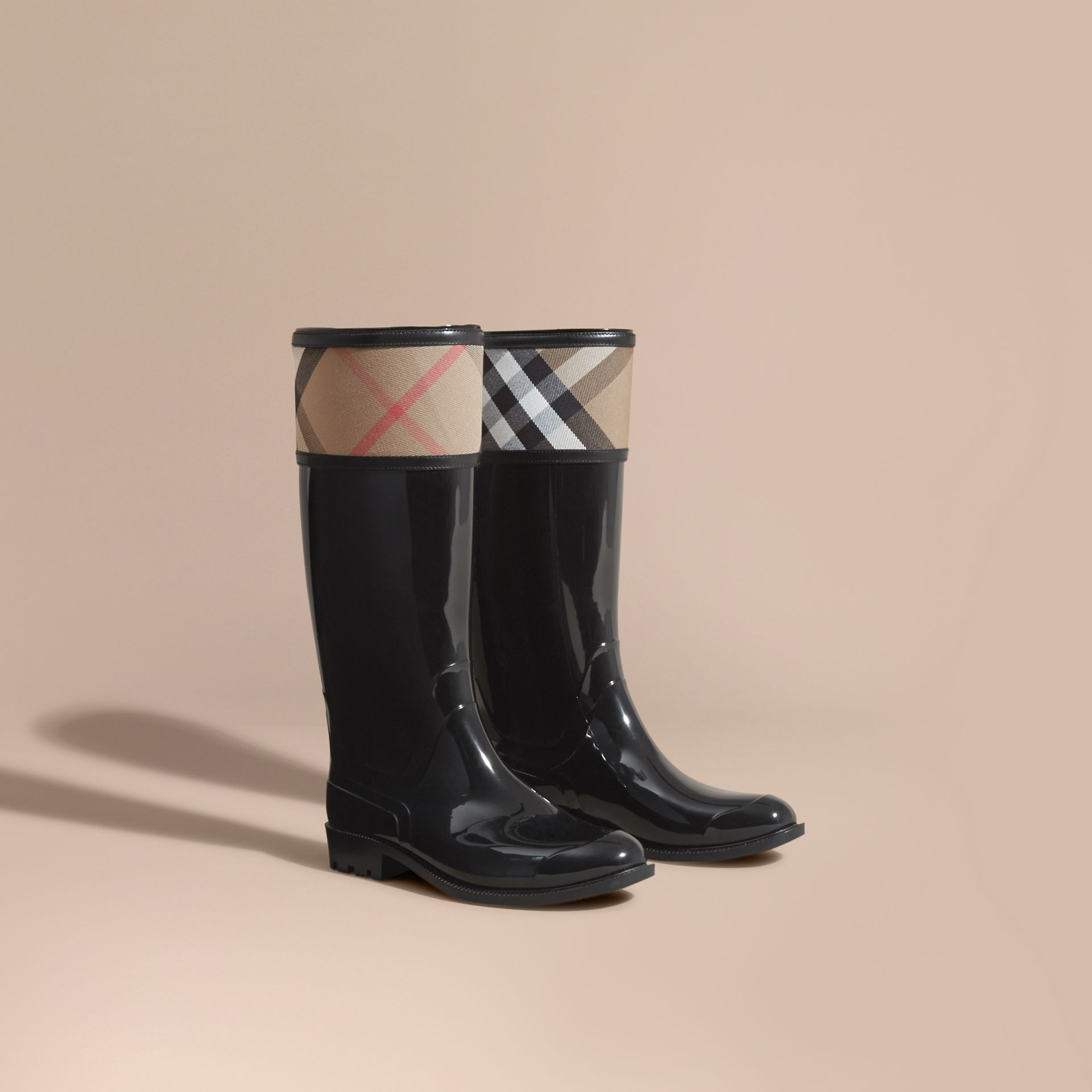 House Check Rain Boots - Women | Burberry - gallery image 1