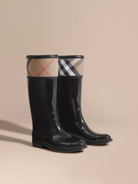 House Check Rain Boots - Women | Burberry Canada