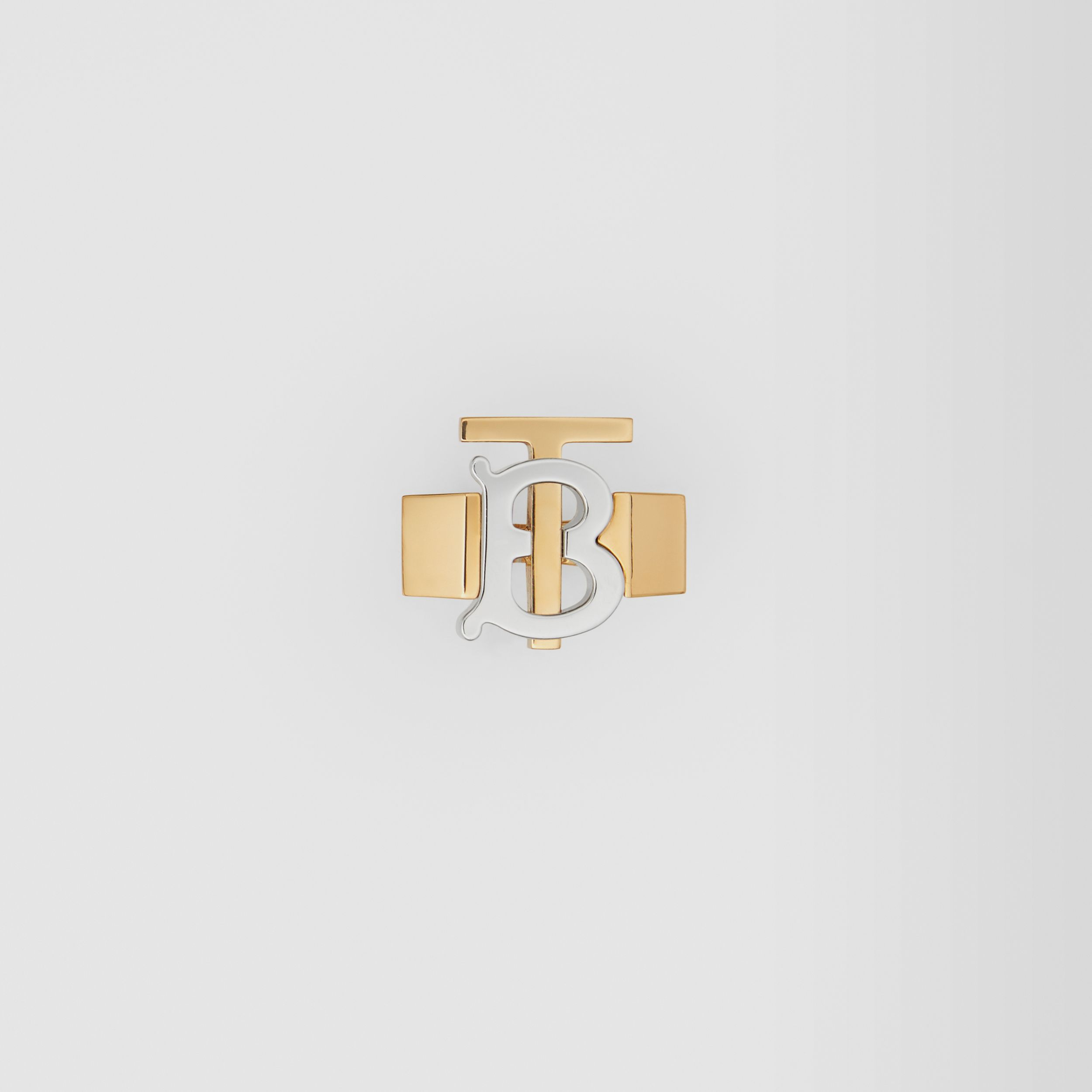 Gold and Palladium-plated Monogram Motif Ring in Light Gold/palladium - Women | Burberry - 1