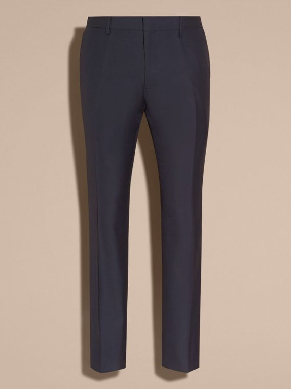 Modern Fit Wool Trousers in Navy - cell image 3