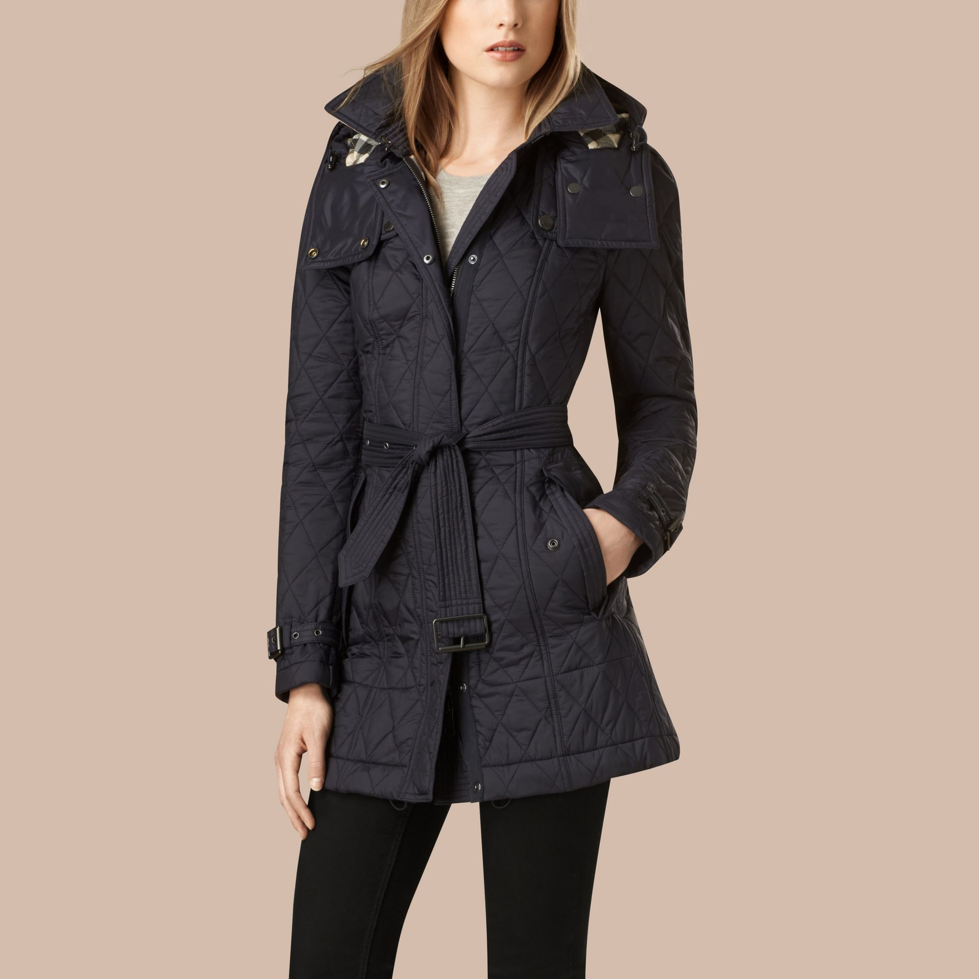 Ink Diamond Quilted Coat Ink - gallery image 3