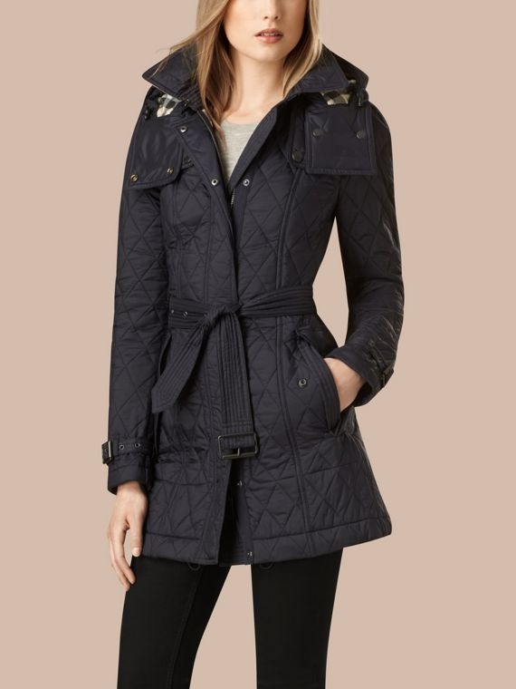 Diamond Quilted Coat Ink - cell image 2