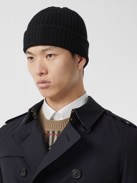 The Chelsea – Long Trench Coat in Navy - Men | Burberry - cell image 1