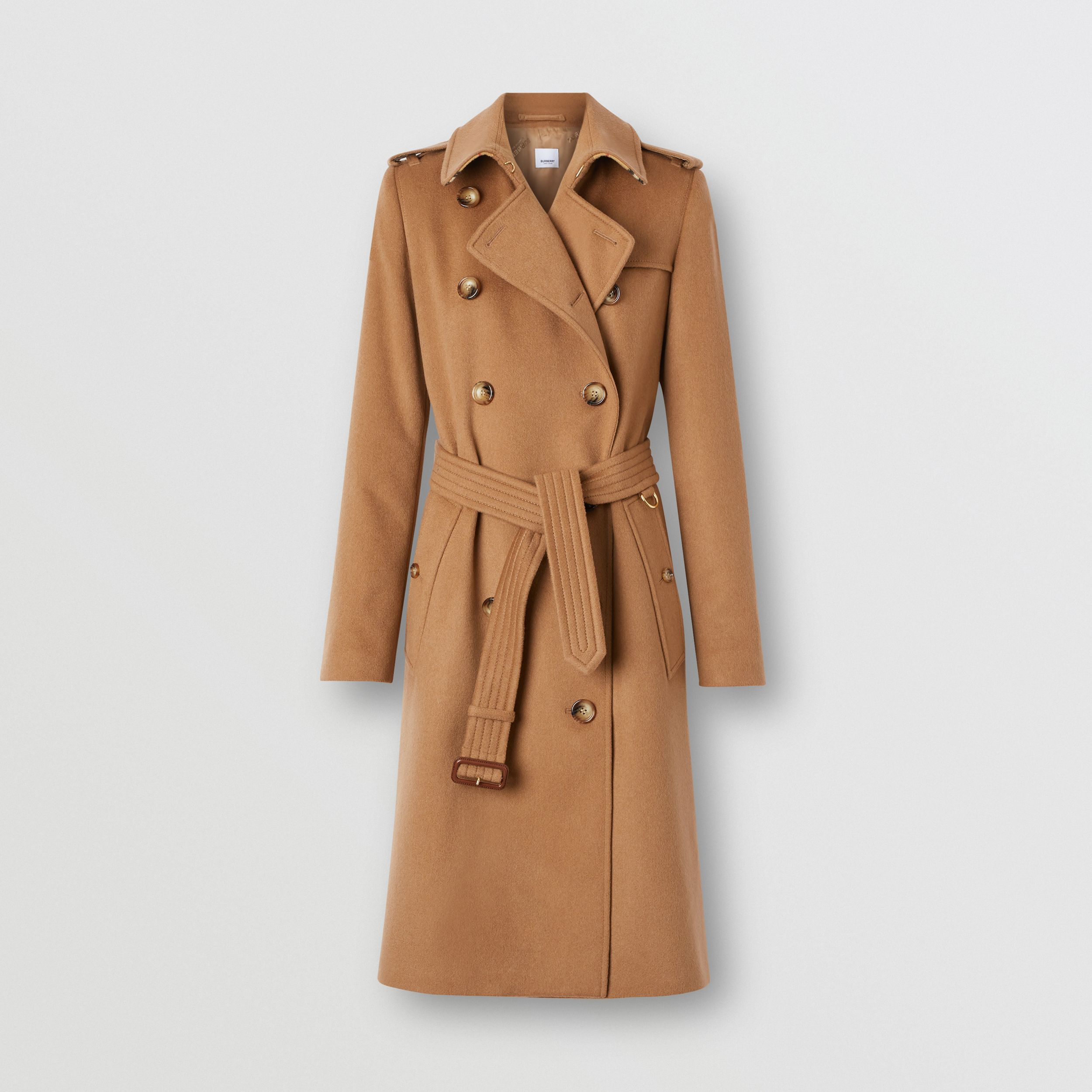 Cashmere Trench Coat in Bronze - Women | Burberry - 4