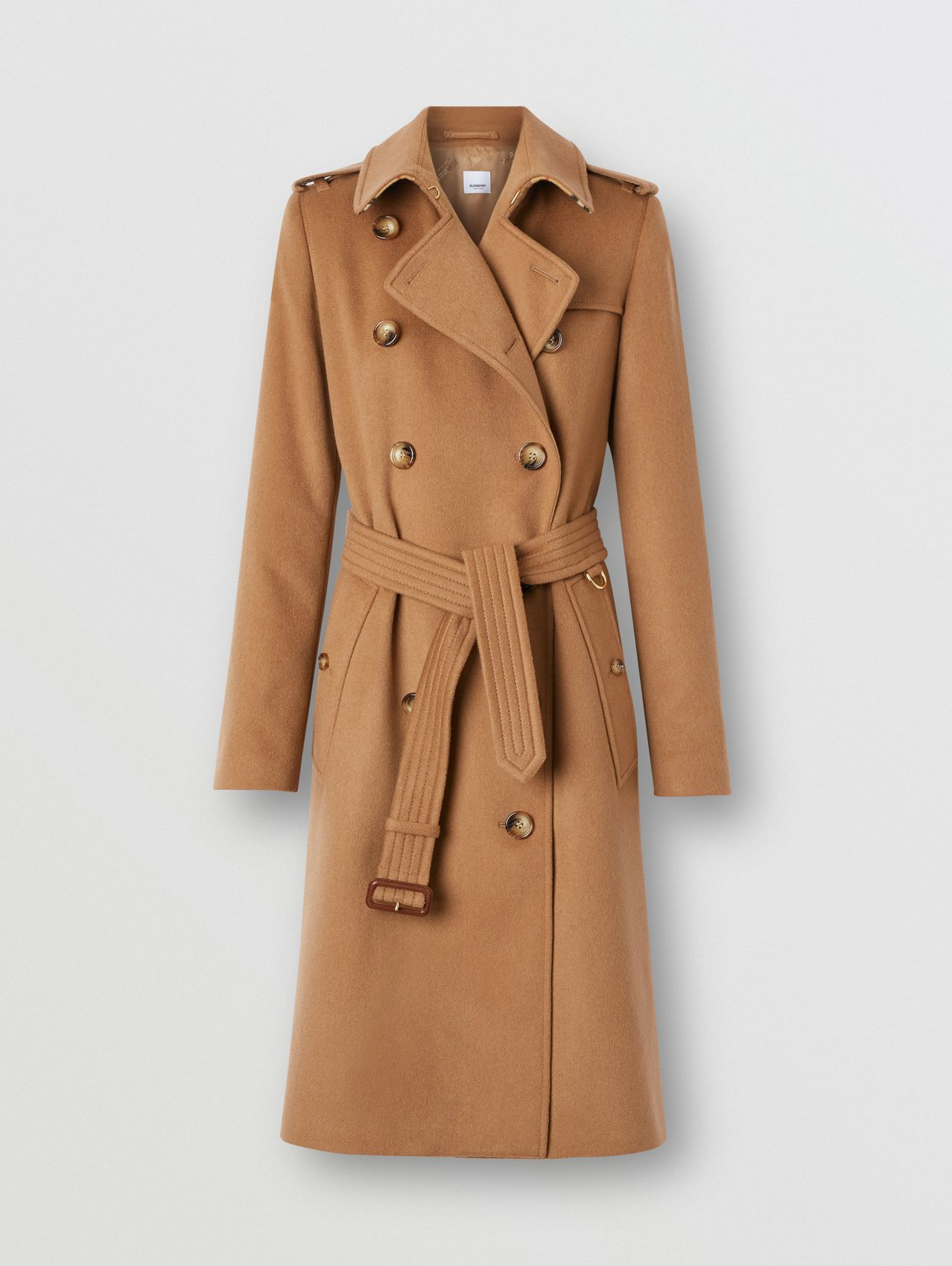 Trench coat de cashmere in Bronze