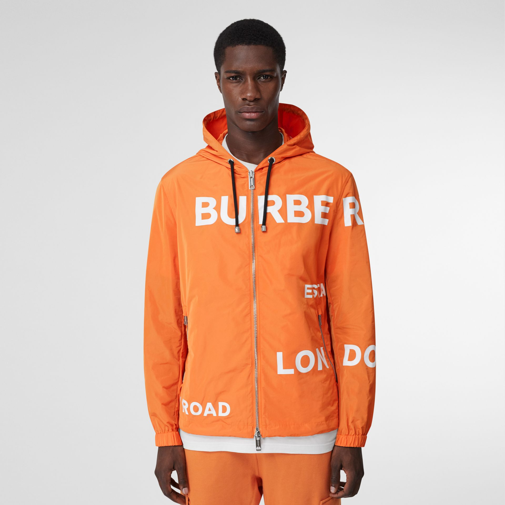 Veste à capuche en nylon Horseferry (Orange Vif) - Homme | Burberry - photo de la galerie 5