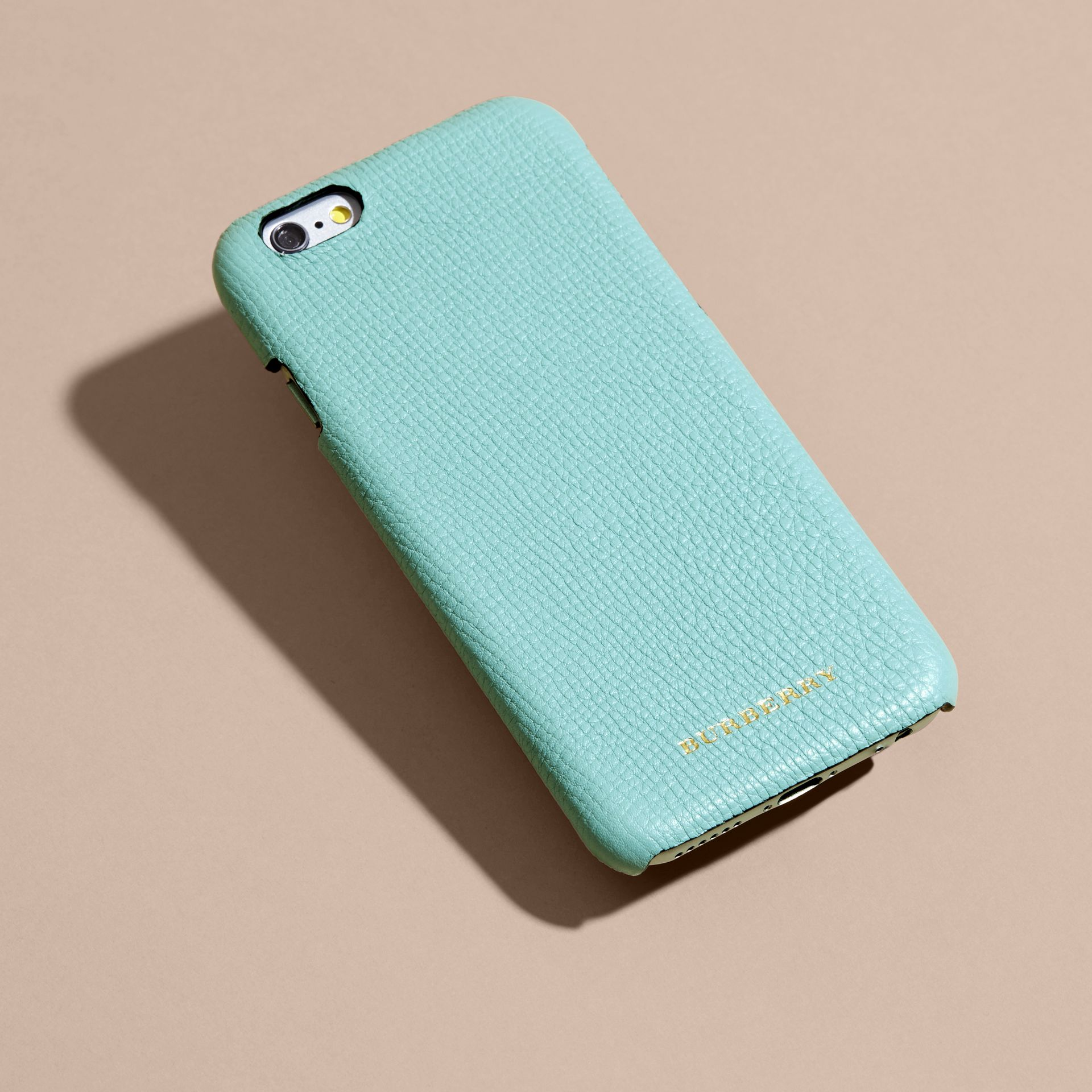 Grainy Leather iPhone 6 Case in Pale Opal - Women | Burberry - gallery image 4