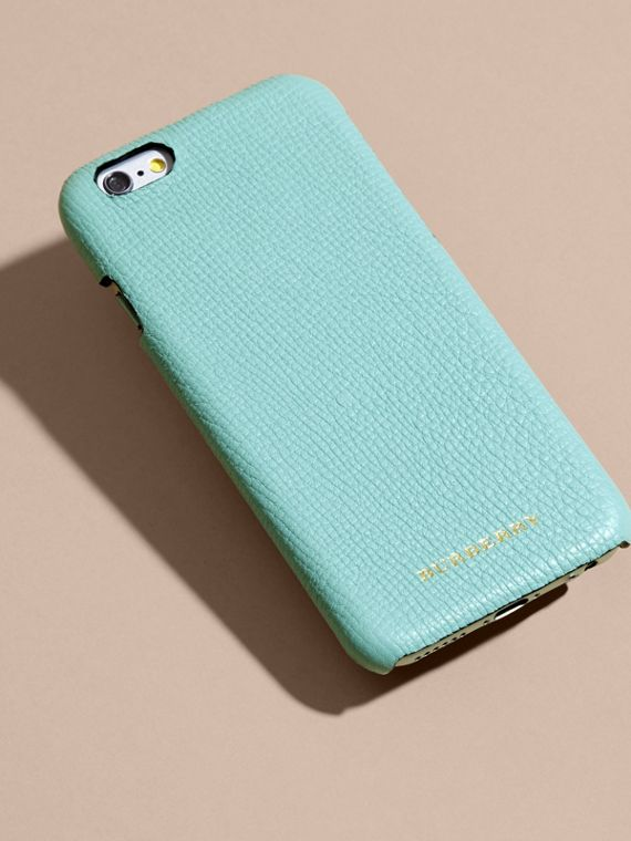 Grainy Leather iPhone 6 Case in Pale Opal - Women | Burberry - cell image 3