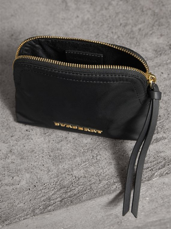 Small Zip-top Technical Nylon Pouch in Black - Women | Burberry Singapore - cell image 3