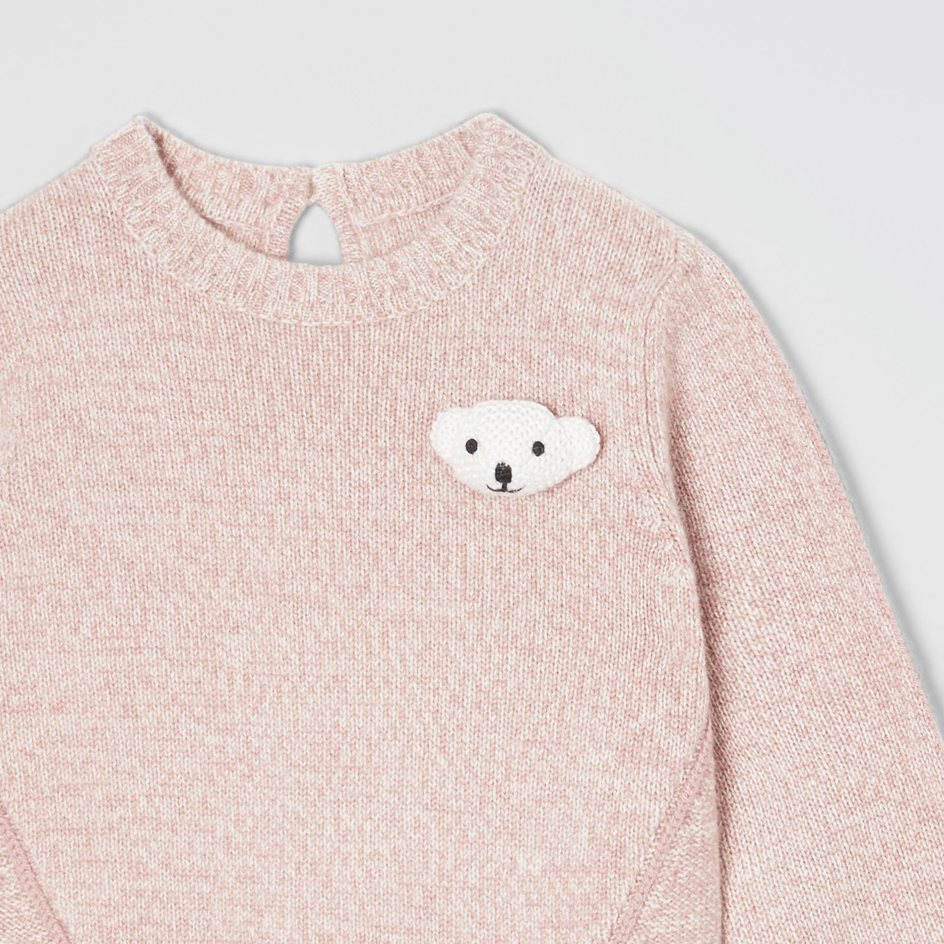 Thomas Bear Detail Wool Cashmere Sweater in Light Pink - Children | Burberry - gallery image 3