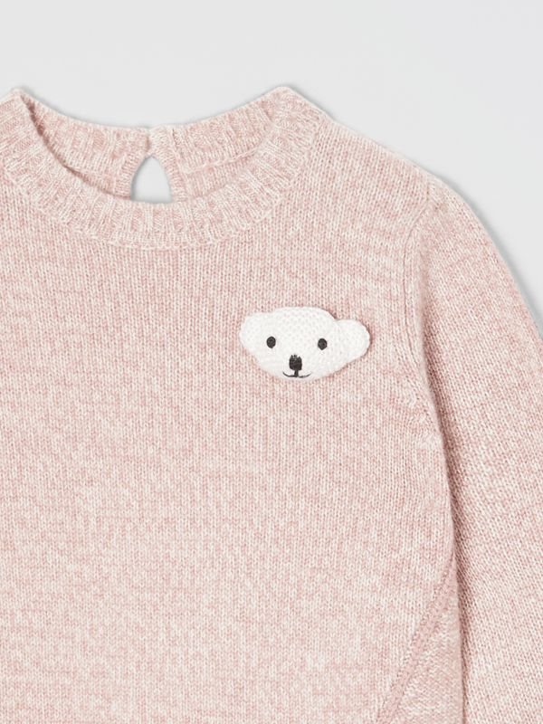 Thomas Bear Detail Wool Cashmere Sweater in Light Pink - Children | Burberry - cell image 3