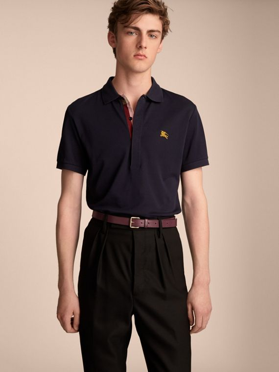 Trench Leather Belt in Wine - Men | Burberry Singapore - cell image 2