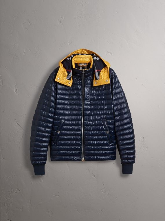Packaway Hood Down-filled Puffer Jacket in Navy - Men | Burberry - cell image 2