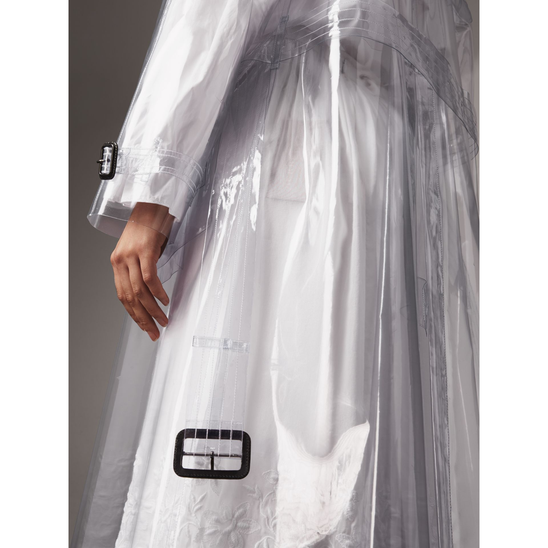 Plastic Trench Coat in Clear - Women | Burberry - gallery image 5