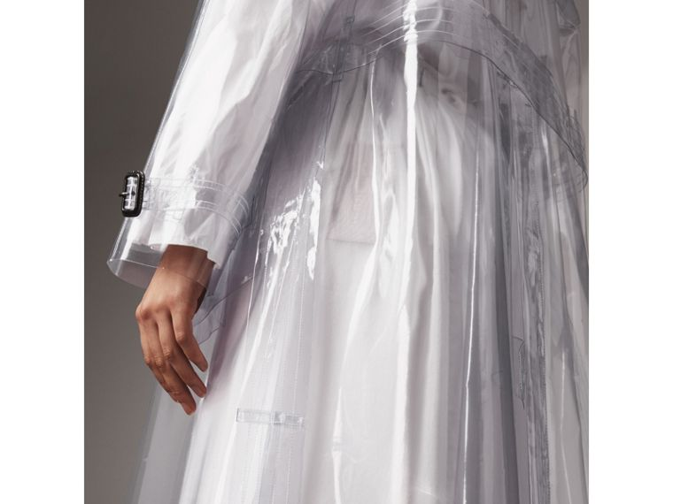 Plastic Trench Coat in Clear - Women | Burberry - cell image 4