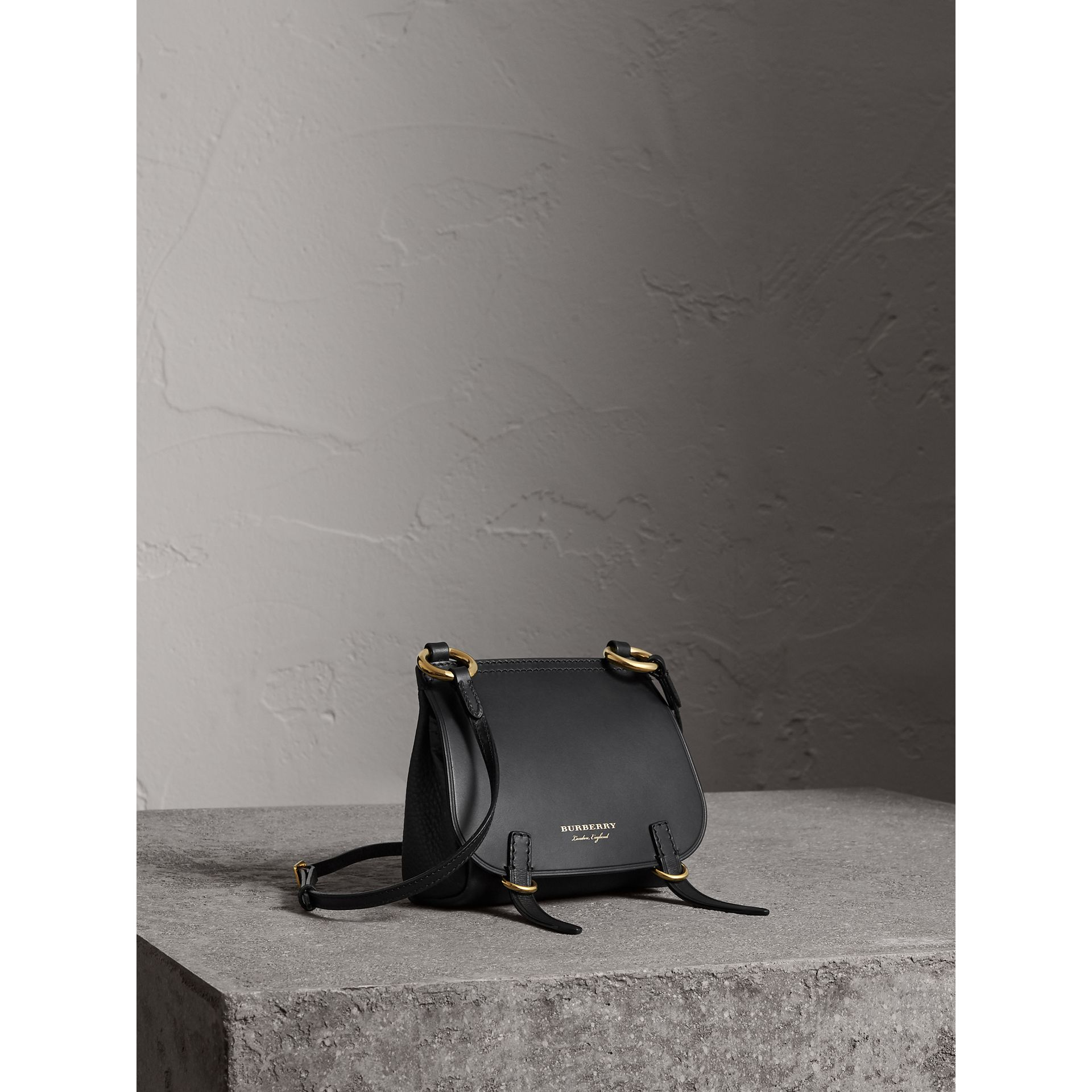 The Baby Bridle Bag in Leather in Black - Women | Burberry - gallery image 1