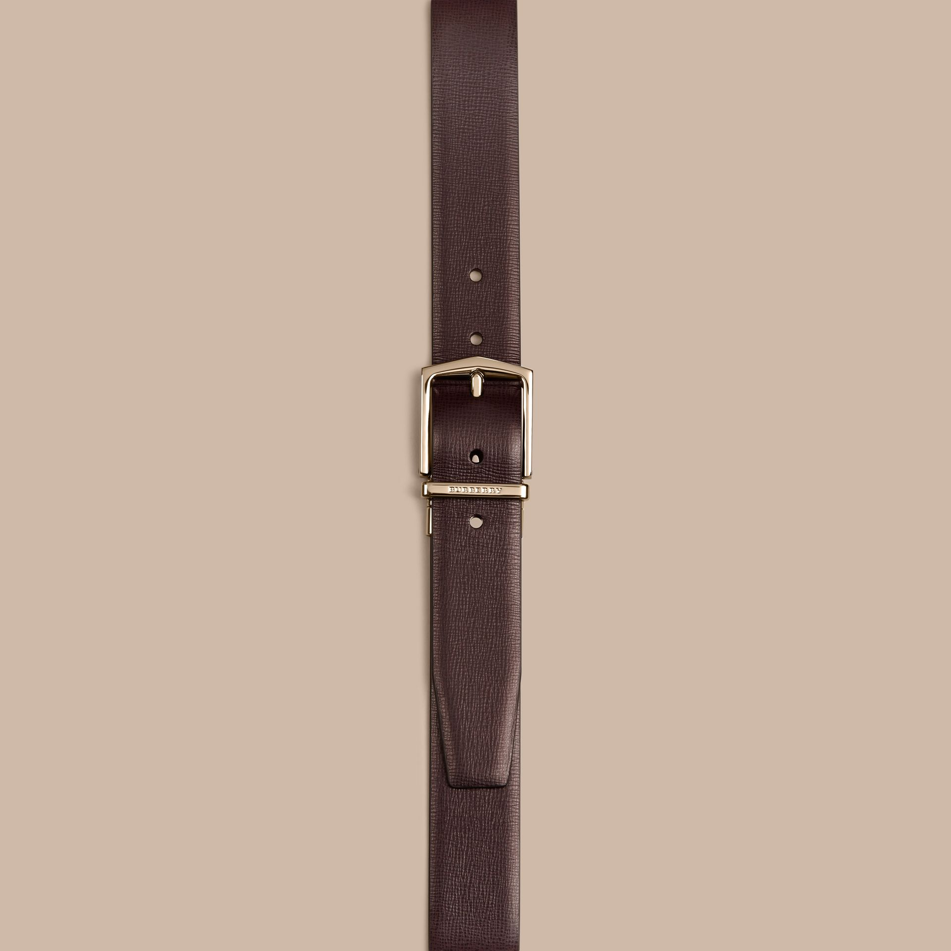 Wine/black Reversible London Leather Belt Wine/black - gallery image 2