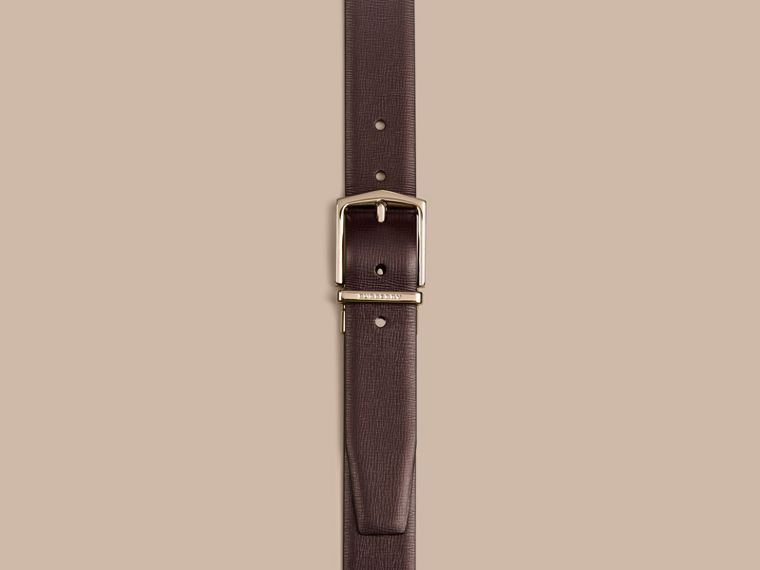 Wine/black Reversible London Leather Belt Wine/black - cell image 1