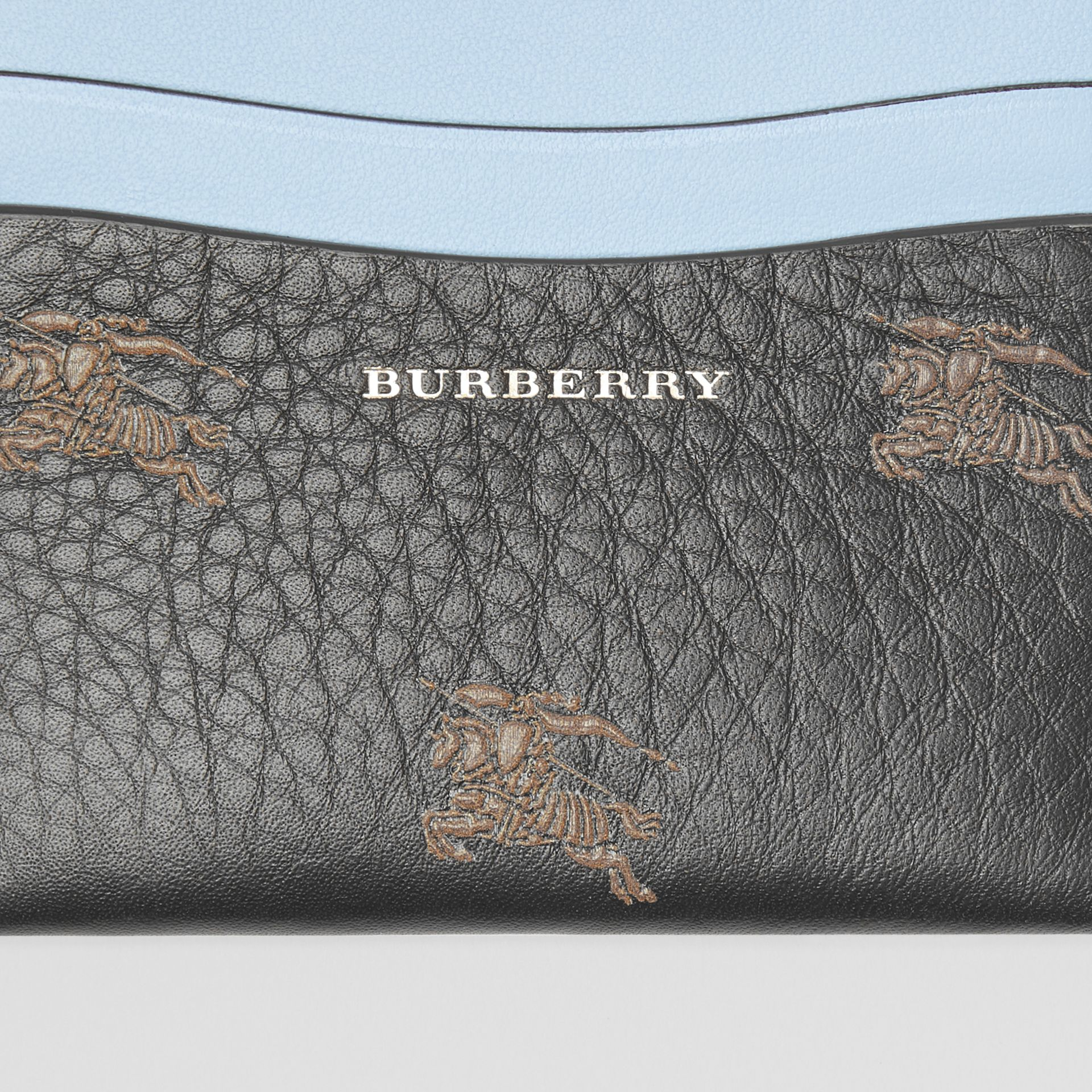 EKD Leather Card Case in Black - Women | Burberry - gallery image 1