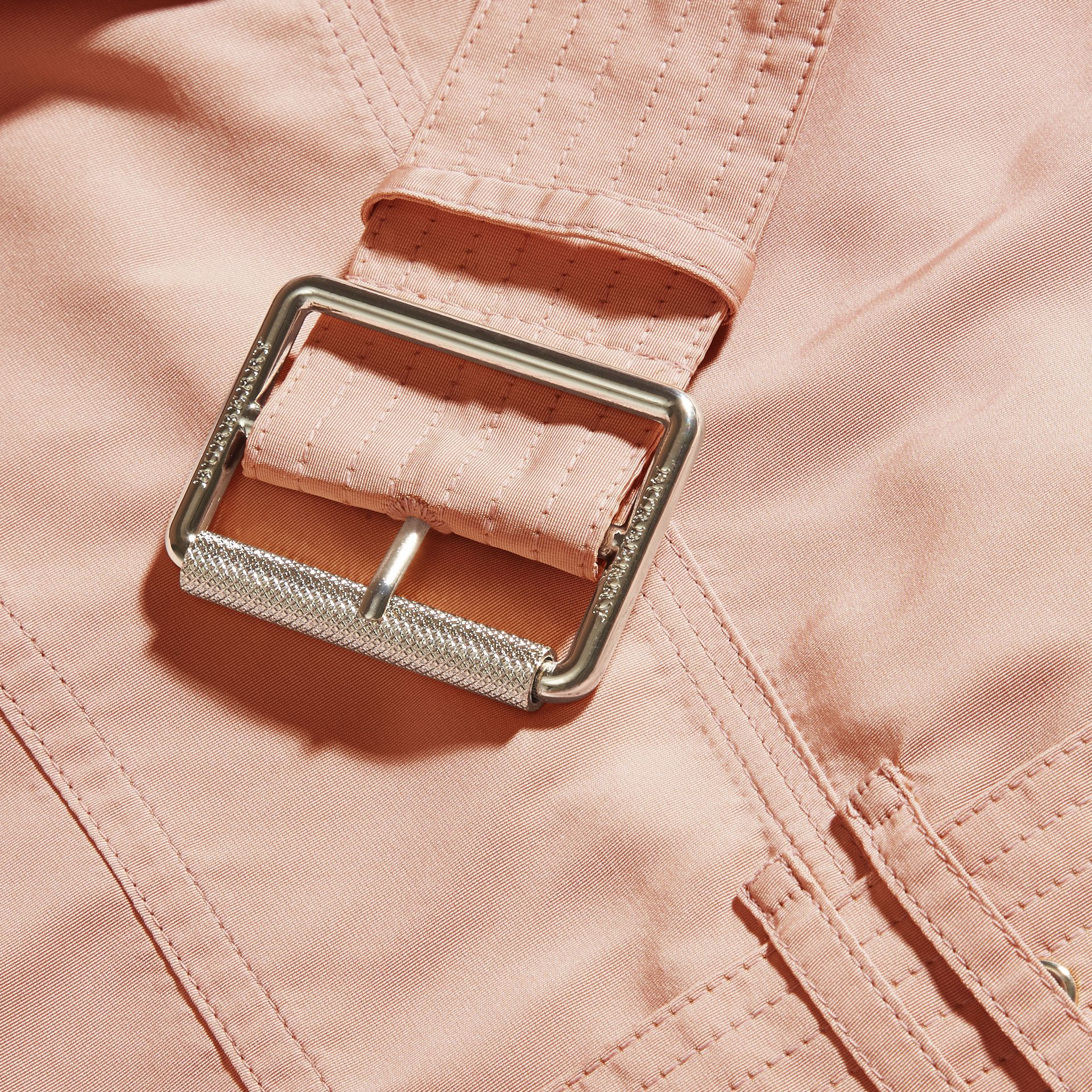Chalk pink Showerproof Taffeta Trench Jacket with Detachable Hood Chalk Pink - gallery image 2