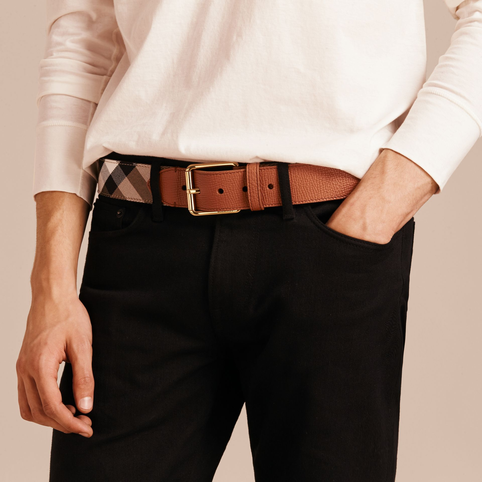 House Check and Leather Belt - gallery image 3