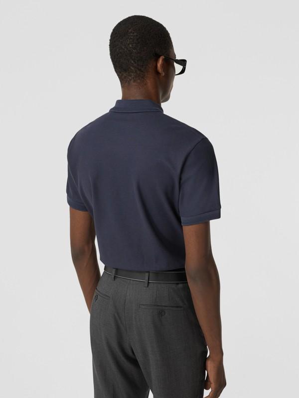 Cotton Piqué Polo Shirt in Navy - Men   Burberry - cell image 2