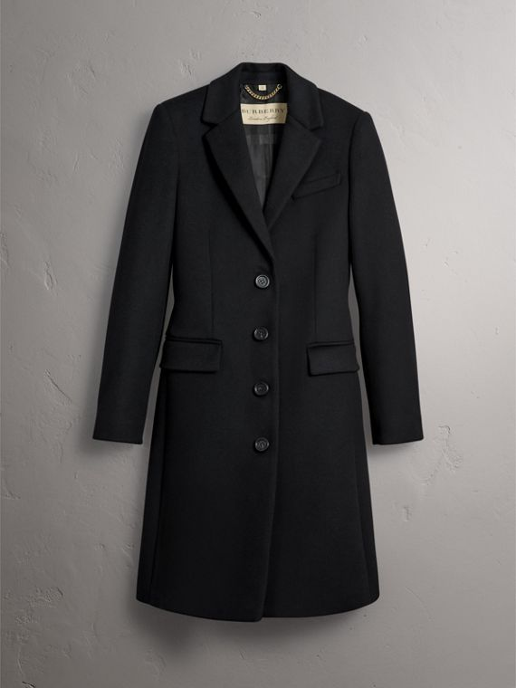 Wool Cashmere Tailored Coat in Black - Women | Burberry Australia - cell image 3