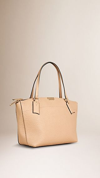 Borsa tote media in pelle a grana Burberry