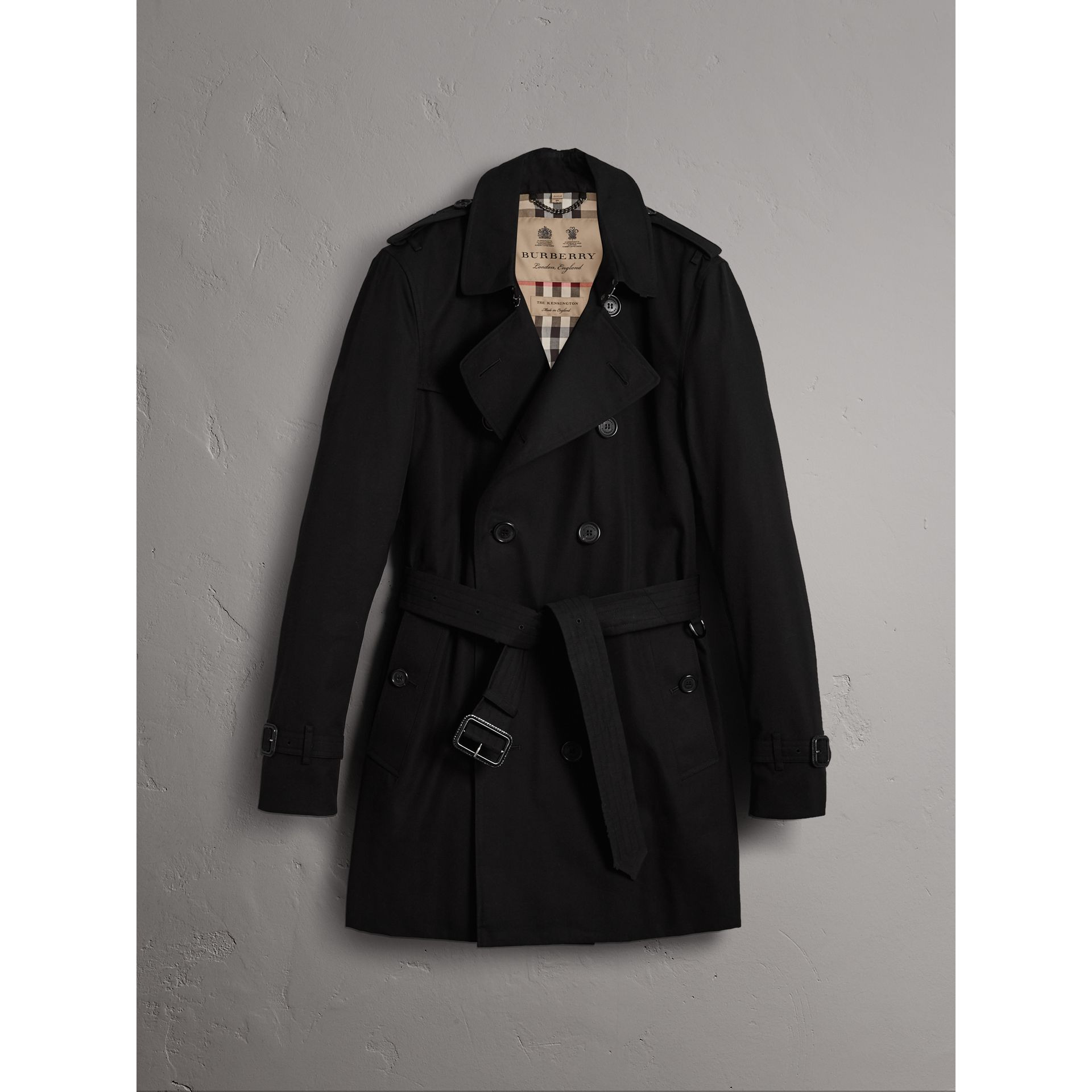 The Kensington – Mid-length Trench Coat in Black - Men | Burberry United States - gallery image 3