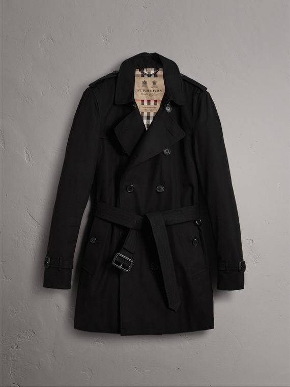 The Kensington – Mid-Length Heritage Trench Coat in Black - Men | Burberry - cell image 3